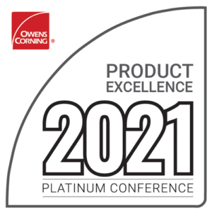 ProCraft Roof Replacement Specialist is the Owens Corning 2021 Product Excellence Award Winner.